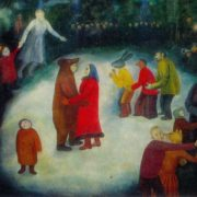 New Year's Day celebration. 1973. Oil on canvas