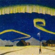 Northern Lights. Oil on canvas. Arkhangelsk museum of fine arts