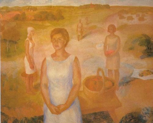 Summer. 1969. Oil on canvas, tempera. State Tretyakov Gallery