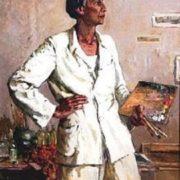 Portrait of artist Bahlulzade. 1955. Painting by Tgi Tagiyev