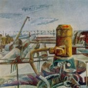 Samotlor landscape. 1977. Canvas, synthetic tempera