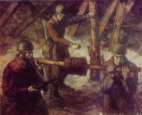 Soviet Latvian artist Karlis Dobrais