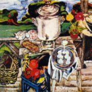 On the field stock. 1967. Oil, canvas. Tretyakov gallery