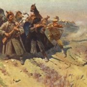 The Budyonny detachment, on foot, deflects the enemy's attack