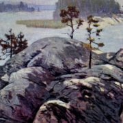 The Ladoga shore. 1964. Oil, canvas