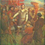 Kulikovo Field. Triptych, dedicated to the 600th anniversary of the Battle of Kulikovo. Tretyakov gallery