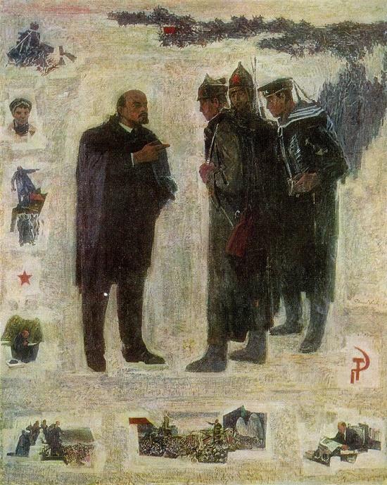 V.I. Lenin. 1969. Oil canvas. State art museum of Estonian SSR, Tallin. Soviet Estonian artist Elmar Yanovich Kits (1913-1972)