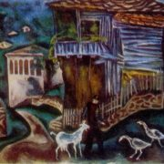 Village of Bozhenitsy. 1978. Oil, canvas
