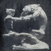 A model of the monument 'Ballad about a tiger and a young man'