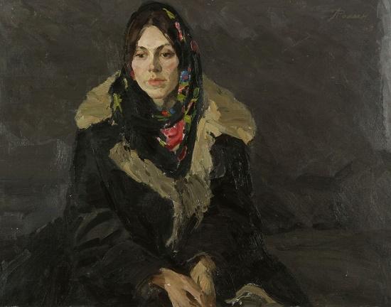 A young woman's portrait. 1969
