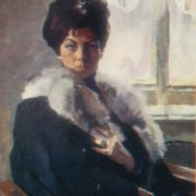 A. Sakeranskaya, portrait. 1970
