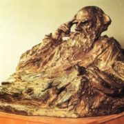 Lev Tolstoy (1828-1910). 1927. Bronze. The State Tretyakov Gallery