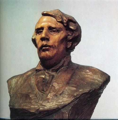 writer A.N. Tolstoy (1882-1945). 1911. Wood. State Tretyakov Gallery