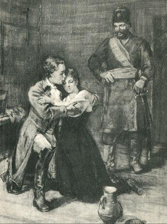 Alexandr Pushkin's 'Captain's daughter. illustration