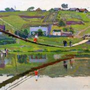 Bridge. 1976 painting