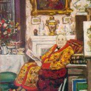 Esthete. 1957. Paper, gouache. Soviet painter Alexander Rozhdestvensky