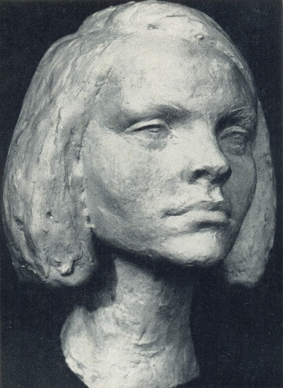 Girl's portrait. Gypsum. 1966