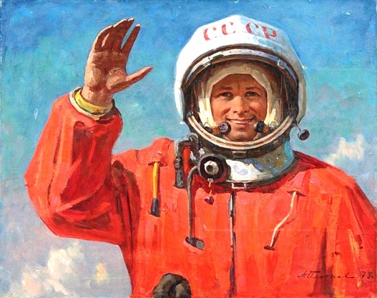 Painting by Soviet artist Andrei Ivanovich Plotnov (July 21, 1916 - May 13, 1997)