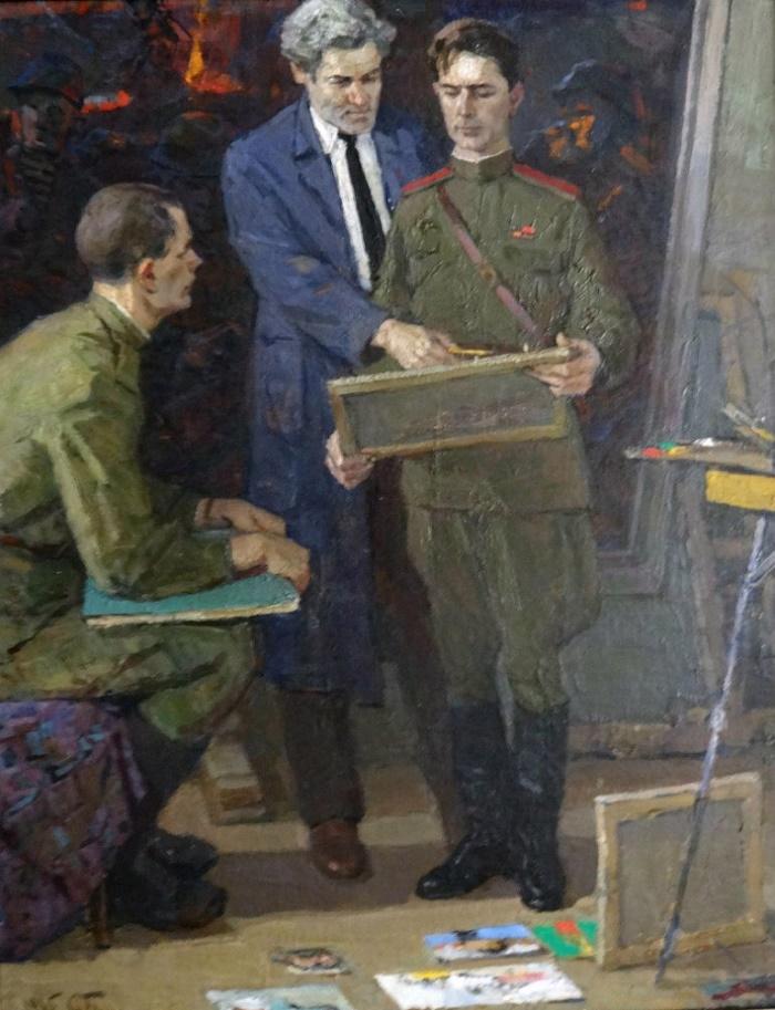 In the artist's studio (self-portrait), 1965