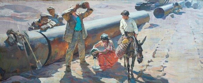 In the sands of the Karakum. 1963