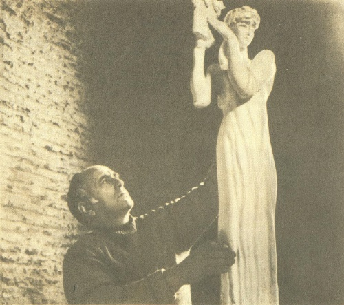 Soviet Georgian sculptor Elgudzha Amashukeli (22 April 1928 - 10 March 2002)