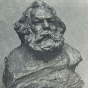 K. Marx. 1905. Bronze (cast of 1936)