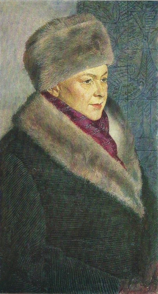 M.A. Tikhomirova, the artist's wife