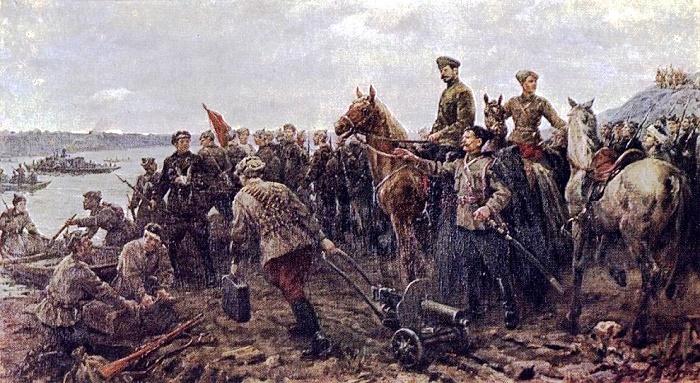Mikhail Vasilyevich Frunze and Vasily Ivanovich Chapaev under Ufa. 1942 (thesis)