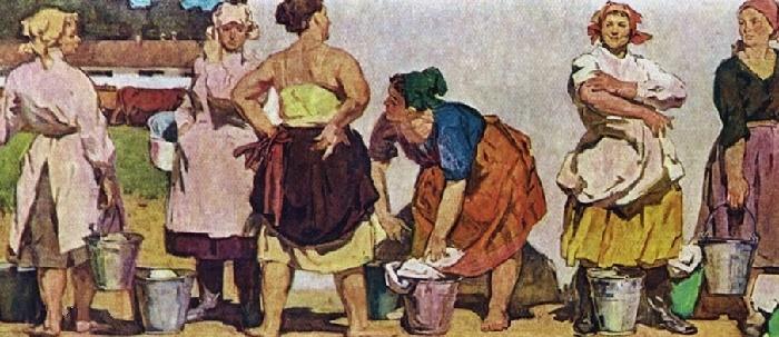 Milkmaids. 1960
