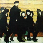 New school (Lenin with children). 1965