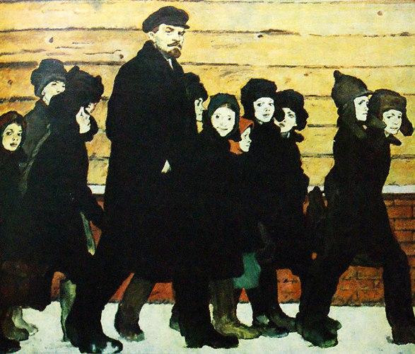 New school (Lenin with children). 1965