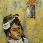 Portrait of Dilya in the spirit of Renoir. 1977