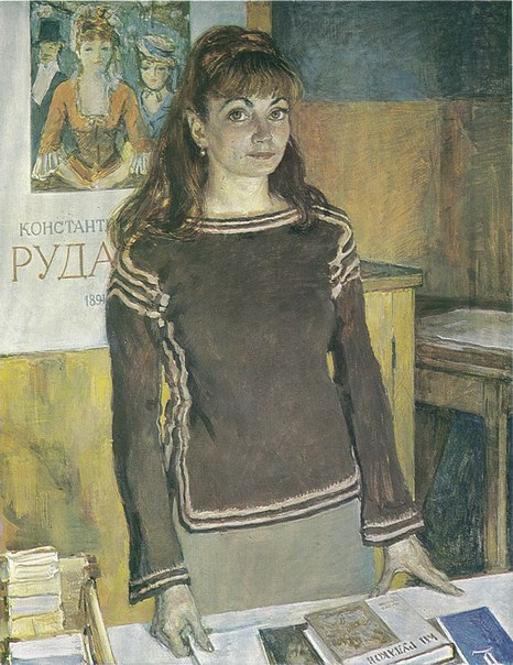 Portrait of E.N. Litovchenko, art historian. 1971