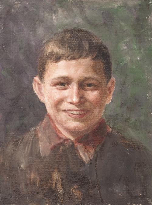 Portrait of son Valera. 1958