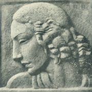 Portrait of the wife (Guga). Relief. Gypsum. 1934