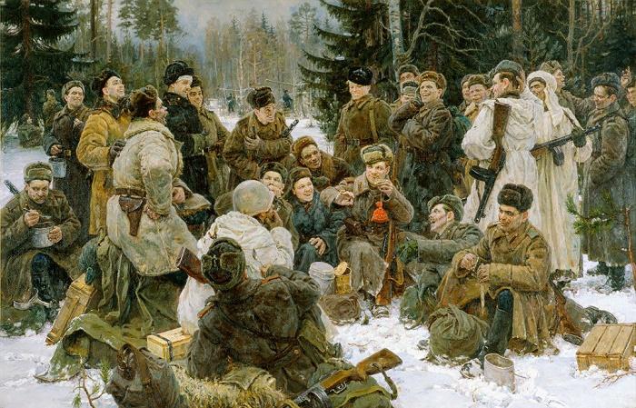 Rest after the battle. (Vasiliy Tyorkin), 1951