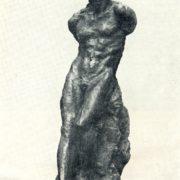 Sitting person. 1912. Tinted gypsum