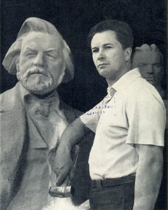 Soviet sculptor Pavel Ivanovich Gusev (July 14, 1917 - July 4, 2010)