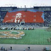 Soviet symbolics in the installation