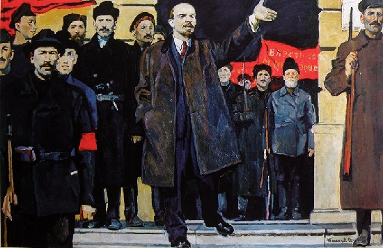 Speech of Lenin in Smolny. 1969