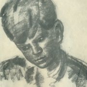 The boy's head. Paper, sanguine. 1937
