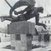 The wounded eagle. Monument to the heroes. 1970. Zestafoni