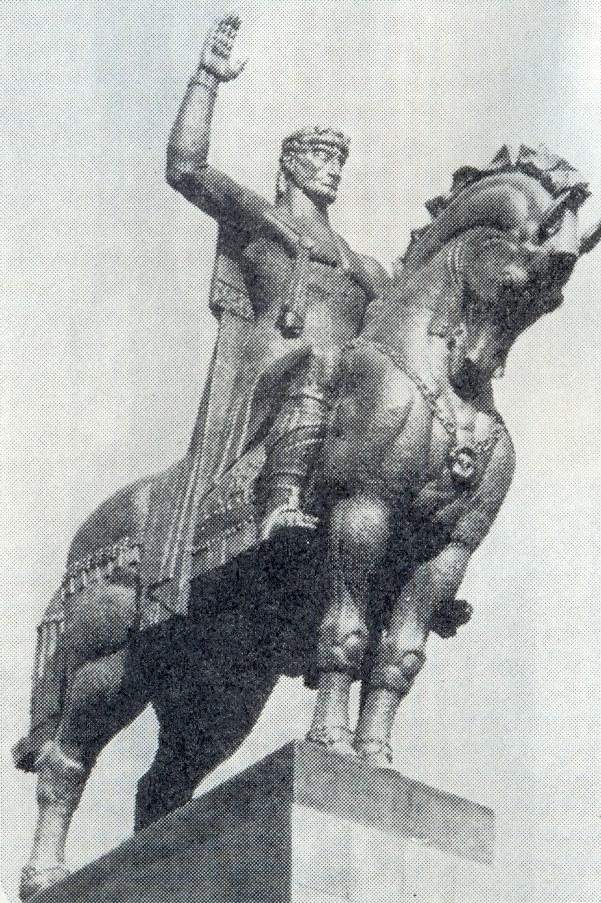 Vakhtang Gorgasali monument in Tbilisi. 1959-1967