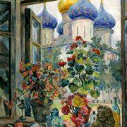 View at the Trinity-Sergius Lavra. 1947