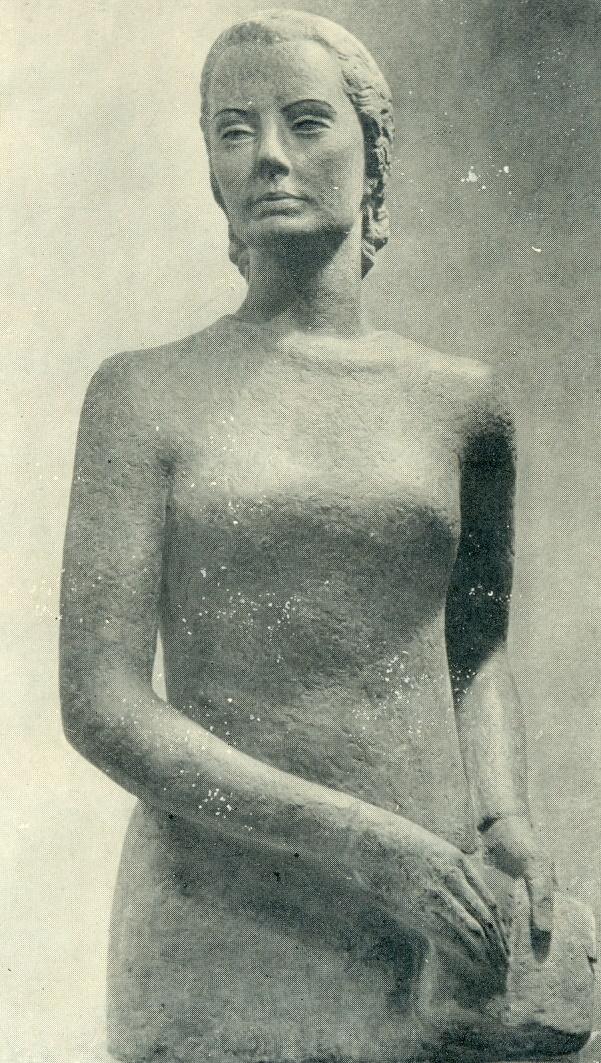 Wife's portrait. Gypsum, 1936. Kaunas Art Museum