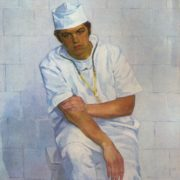 Young surgeon VB Krasnogorov. 1973