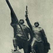 Victory. Sculptural group on the bridge in Kaliningrad. 1946. Bronze, granite