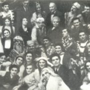 Among the students and teachers of Gnesin Institute (front row, far right)