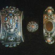 Bracelet of the bride. Gavars, granaries, stones in the frame. 1968