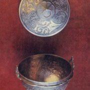Candy vase 'Vacha-ashak'. Niello, deep engraving. 1959